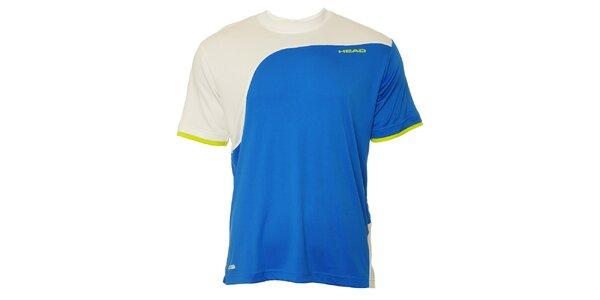 Pánské modro-bílé sportovní triko Head