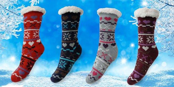 Hedvábně jemné bambusové domácí ponožky