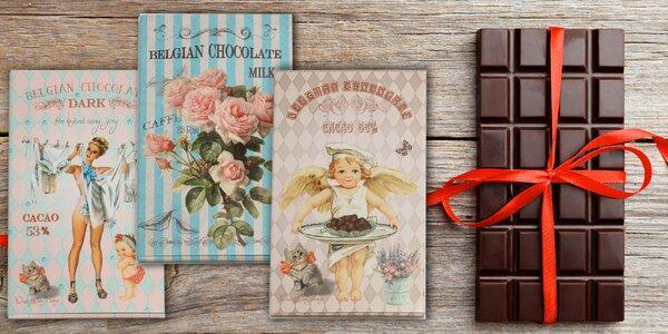 Sada belgických čokoládek v retro obalech