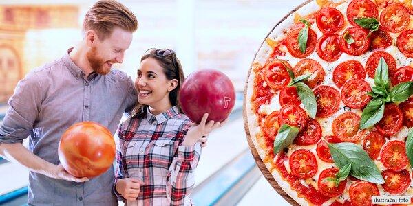 Pizza a hodina bowlingu v Kostelci na Hané