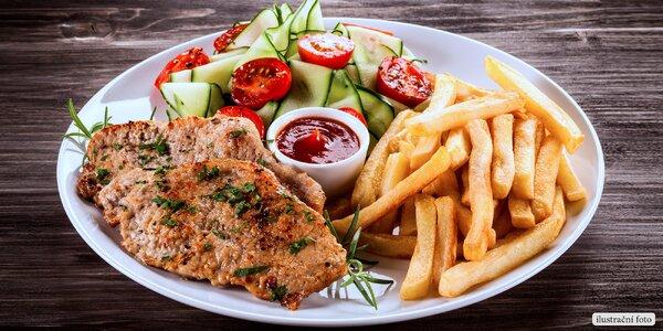 Bašta pro dva: Steak z kotlety, příloha a dezert