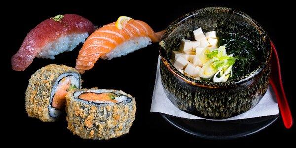 Na oběd do Japonska: Menu s polévkou a sushi