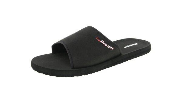 Pánské černé pantofle s logem Beppi