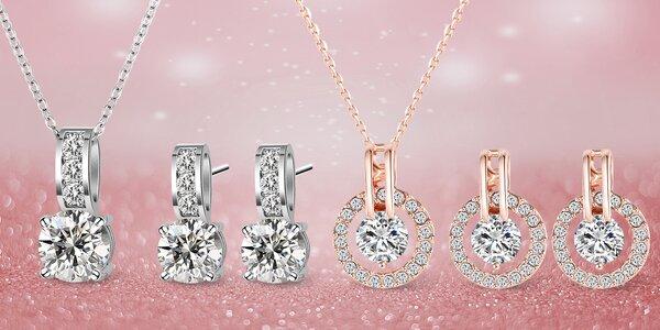 Set šperků se zářivými zirkony