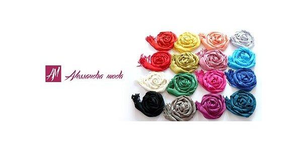 Lehoučké letní šály s třásněmi v 16 barevných odstínech