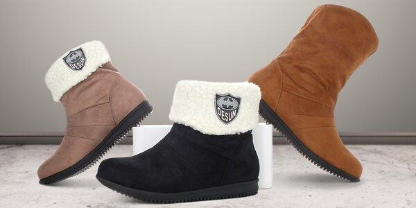 Dámské zimní boty do práce i na procházky