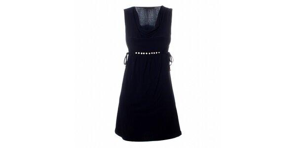 Dámské tmavě modré šaty Via Bellucci s korálky