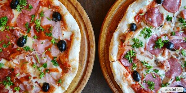 2 poctivé italské pizzy podle vašeho gusta