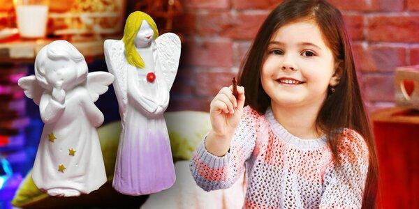 Workshop malování andělíčků pro dítě a dospělého