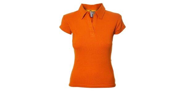 Dámské oranžové polo Rejoice