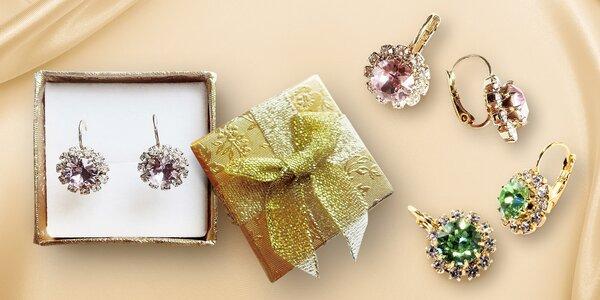 Krásné náušnice s krystaly Swarovski Elements
