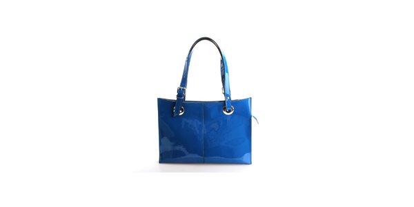 Dámská sytě modrá lakovaná kabelka Belle&Bloom