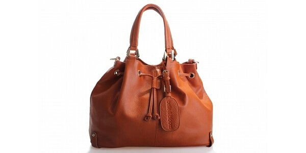 Dámská hnědá kožená kabelka Belle&Bloom