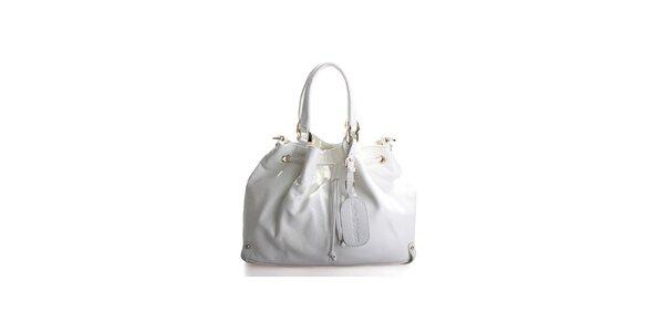Dámská bílá kožená kabelka Belle&Bloom