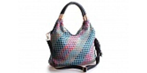 Dámská světle modrá kabelka Belle&Bloom s barevnými proužky