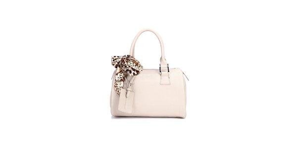 Bílá kufříková kabelka Belle&Bloom s ozdobným šátkem