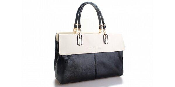 Dámská černá kabelka Belle&Bloom s bílým lemem