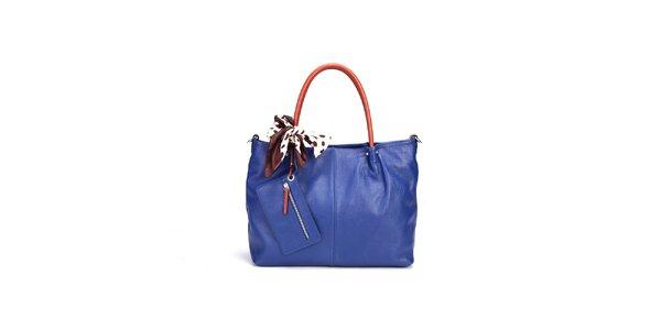 Dámská tmavě modrá kabelka Belle&Bloom s kontrastními uchy