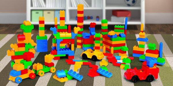 500 kusů velkých kostek stavebnice pro děti