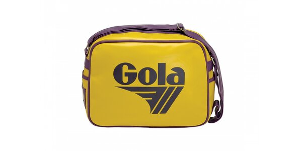 Žlutá taška Gola s fialovým lemováním