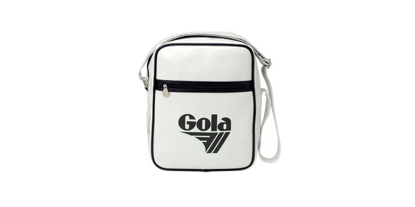 Bílá taška Gola s černým lemováním