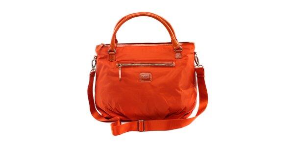 Dámská pomerančová nylonová kabelka Pertegaz