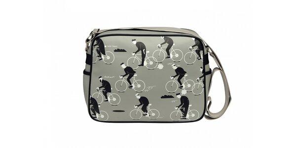 Šedá taška Gola s cyklistickým potiskem