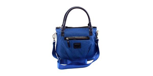 Dámská menší modrá nylonová kabelka Pertegaz