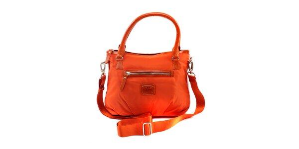Dámská menší pomerančová nylonová kabelka Pertegaz