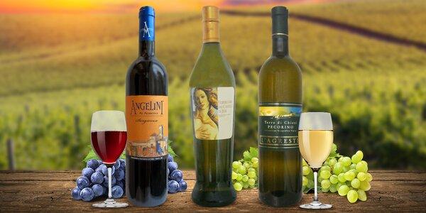 6 lahví vína z prosluněné střední Itálie