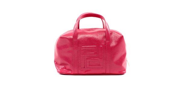 Dámská fuchsiová kabelka Pertegaz s vystouplým vzorem