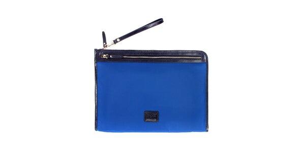 Dámská modrá nylonová peněženka Pertegaz do kabelky