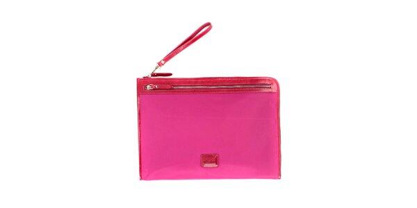 Dámská růžová nylonová peněženka Pertegaz do kabelky