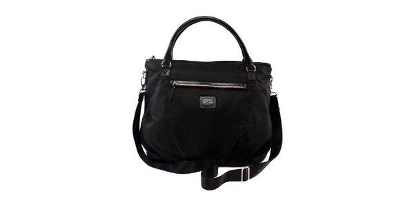 Dámská černá nylonová kabelka Pertegaz