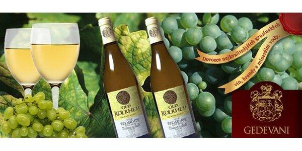 168 Kč za DVĚ láhve bílého vína Tsinandali z Gruzie
