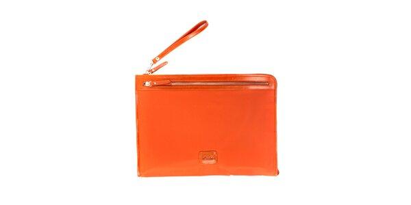 Dámská oranžová nylonová peněženka Pertegaz do kabelky