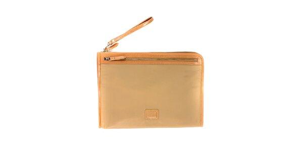 Dámská světle béžová nylonová peněženka Pertegaz do kabelky