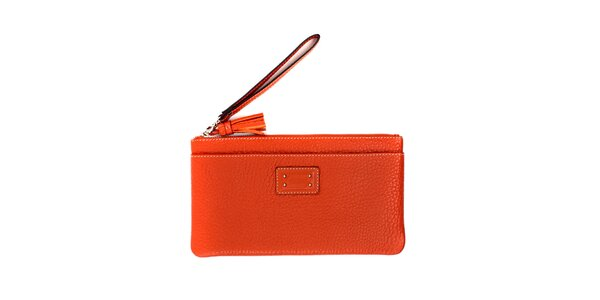 Dámská oranžová kožená peněženka do kabelky Pertegaz