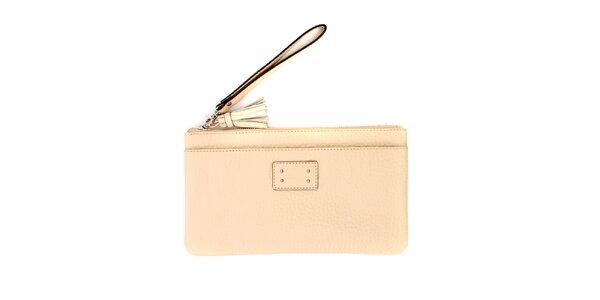 Dámská krémová kožená peněženka do kabelky Pertegaz