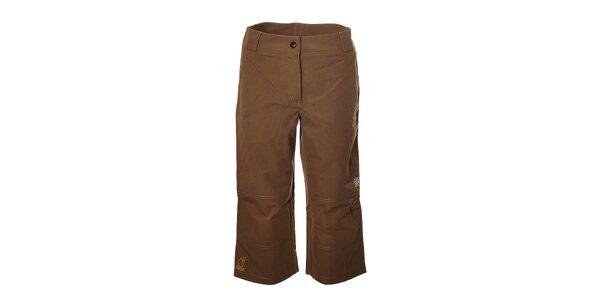 Dámské hnědé capri kalhoty Rejoice