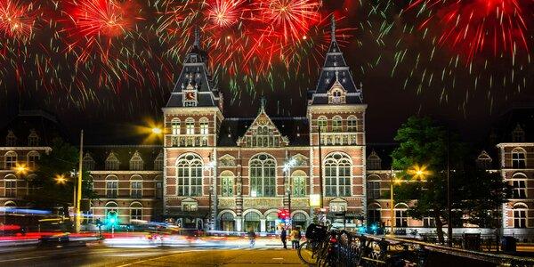 Silvestr v Amsterdamu s festivalem světel