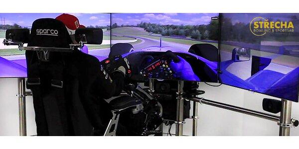Realistické závody F1 nebo rally na profi simulátoru