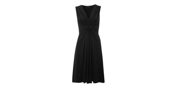 Dámské černé šaty s řasením Fever