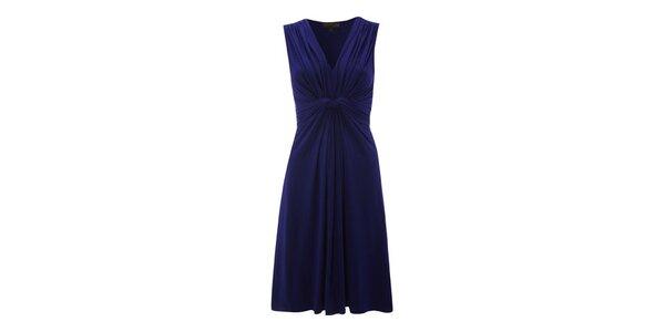 Dámské modré šaty s řasením Fever