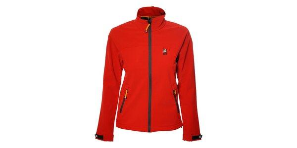Dámská červená softshellová bunda Rejoice