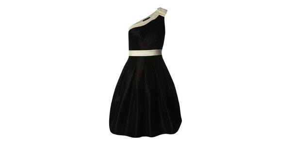 Dámské černé saténové sukni s balonovou sukní Fever