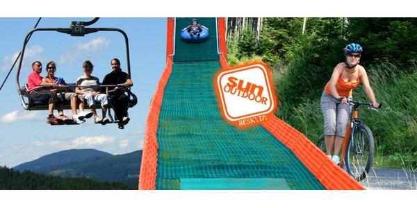 249 Kč za 6x sjezd z kopce na koloběžce a výjezd nahoru + dětský park!