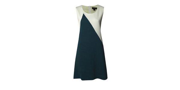 Dámské tyrkysovo-bílé šaty Fever