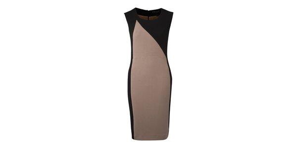 Dámské béžovo-černé pouzdrové šaty Fever