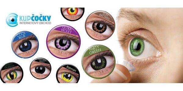 499 Kč za pár barevných nebo crazy očních čoček včetně vyšetření zraku
